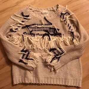 Knitz for love & lemon fringe sweater